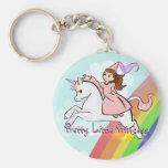Princess and Unicorn Keychain
