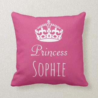Princess (Any name) Personalised Crown Cushion