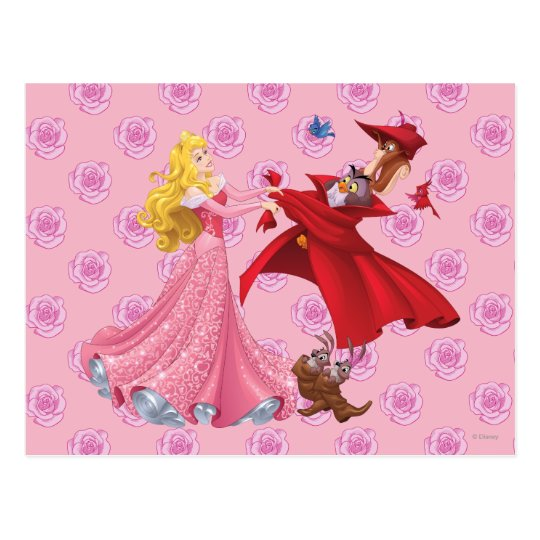 Princess Aurora and Forest Animals Postcard