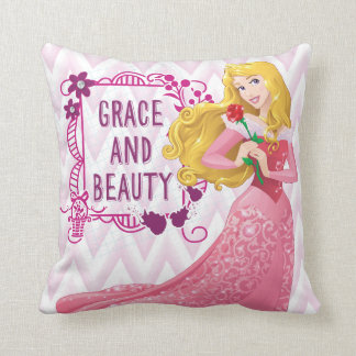 Princess Aurora Throw Pillow
