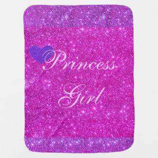 Princess Baby Girl Blanket Pink Sparkly Blanky 2 Stroller Blanket