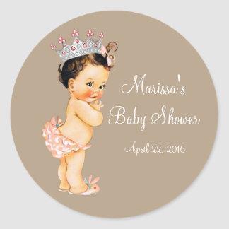 Princess Baby Shower Classic Round Sticker