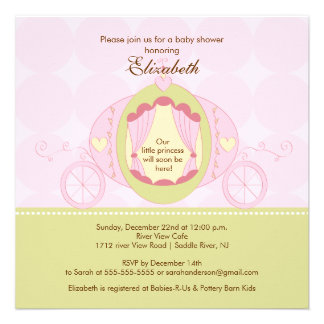 Princess Baby Shower Invitation Pretty Carriage