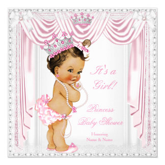 Princess Baby Shower Pink Satin Lace Medium Skin Card