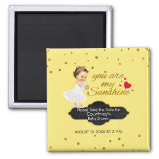 Princess Baby Shower Save the Date | My Sunshine Magnet