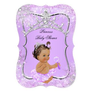 Princess Baby Shower Wonderland Lilac Brunette Card