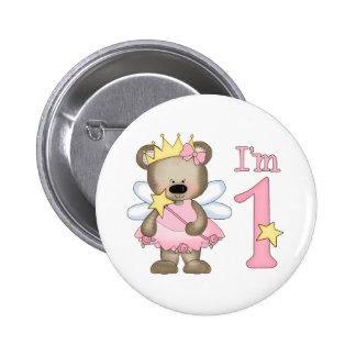 Princess Bear 1st Birthday 2 Inch Round Button