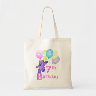 Princess Bear 7th Birthday Party Bags