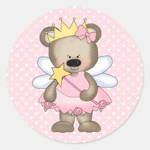 Princess Bear Stickers