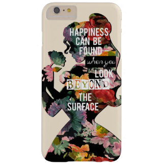 Princess | Belle Floral Silhouette Barely There iPhone 6 Plus Case