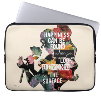 Princess | Belle Floral Silhouette Laptop Sleeve
