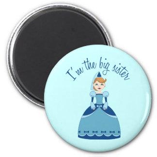 Princess Big Sister 2 Inch Round Magnet