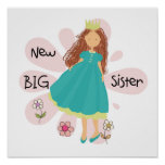 Princess Big Sister Brown Hair Posters