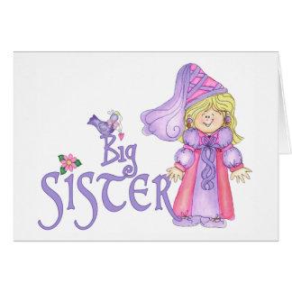 Princess Big Sister Note Card