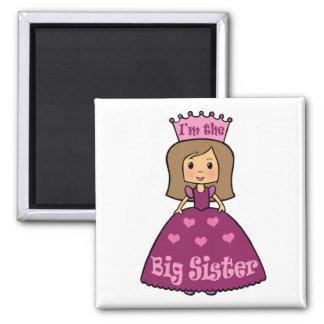 Princess Big Sister Square Magnet