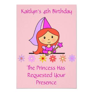 "Princess Birthday Invitation 5"" X 7"" Invitation Card"