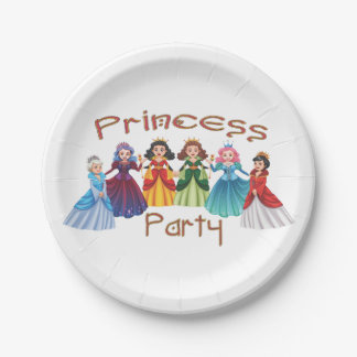 Princess Birthday Party Paper Plate