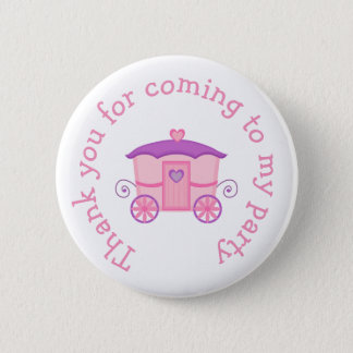 Princess Birthday Party Pink and Purple 2 Inch Round Button