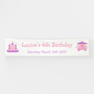 Princess Birthday Party Pink and Purple Banner