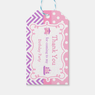 Princess Birthday Party Pink and Purple Gift Tag