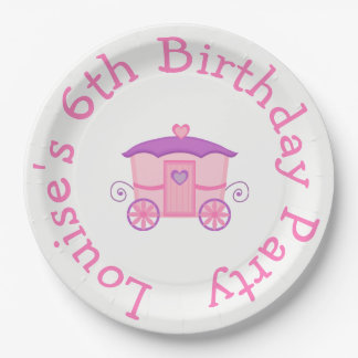 Princess Birthday Party Pink and Purple Paper Plate