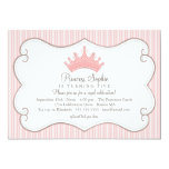 Princess Birthday Party Pink Crown Invitation