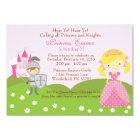 Princess (blonde) and Knight birthday invitation