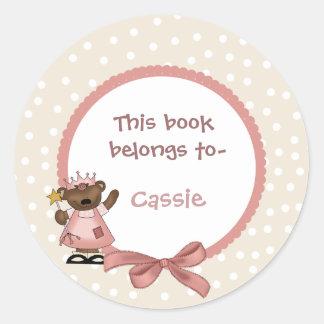 Princess bookplate sticker