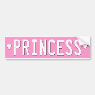 Princess Bumper Sticker License Plate Pink