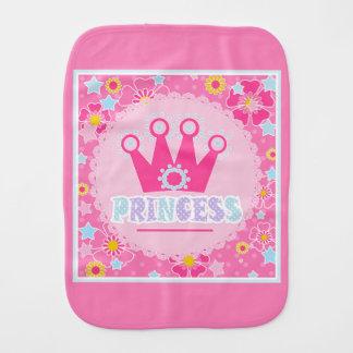 Princess . burp cloth