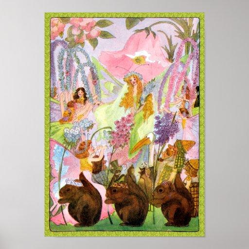 Princess Butterfly Fairy Flowers Print