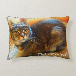 Princess Calico Tabby Cat by Carol Zeock Accent Pillow