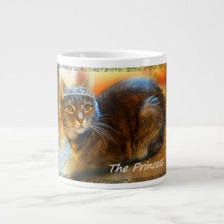 Princess Calico Tabby Cat by Carol Zeock Large Coffee Mug