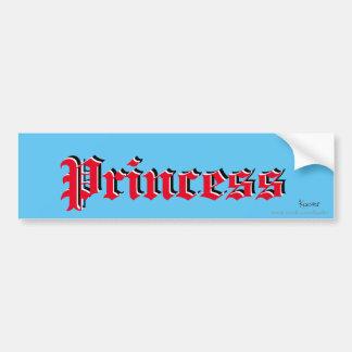 Princess car sticker bumper sticker