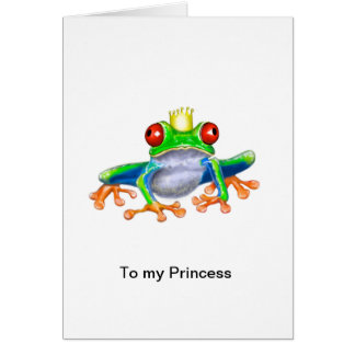 Princess card with frog prince design
