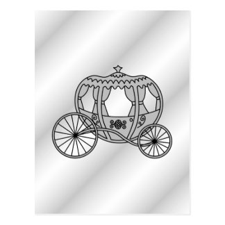 Princess Carriage in Gray Postcard
