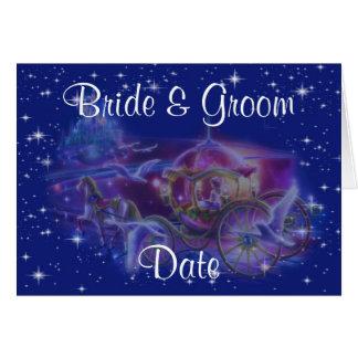 Princess Carriage Theme Wedding Invitations