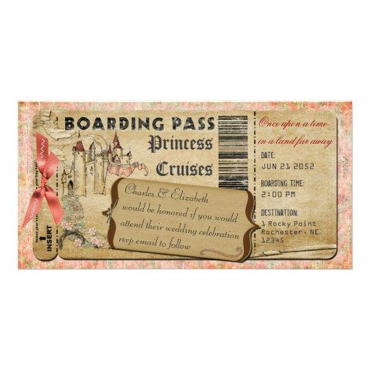Princess Castle  Boarding Pass Card