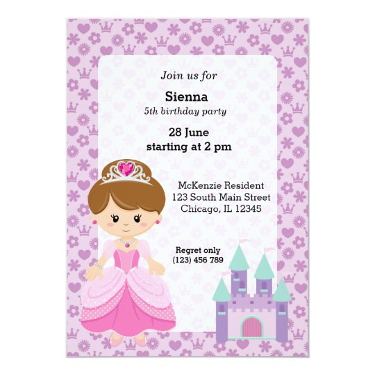 Princess & Castle Card