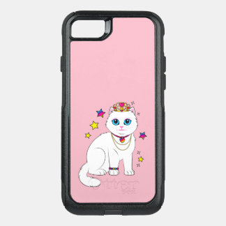 Princess Cat with Stars and Tiara OtterBox Commuter iPhone 8/7 Case