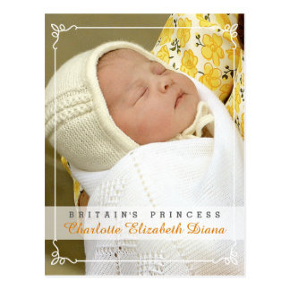 Princess Charlotte Elizabeth Diana - William Kate Postcard
