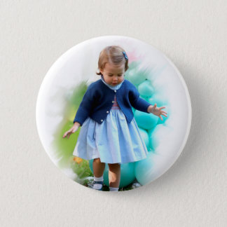 Princess Charlotte Elizabeth Walking 2 Inch Round Button