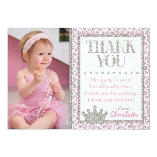 Princess Cheetah Birthday Thank You Card