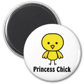 Princess Chick 2 Inch Round Magnet