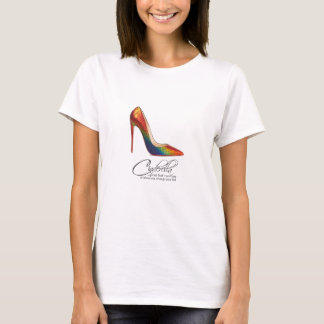 Princess Cinderella Quote Colorful Rainbow Shoes T-Shirt