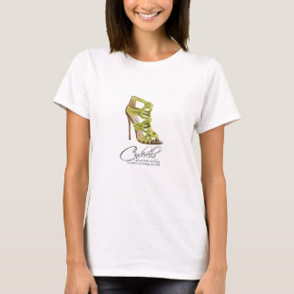 Princess Cinderella Quote Lime Green Shoes T-Shirt