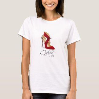 Princess Cinderella Quote Red Leopard Shoes TShirt