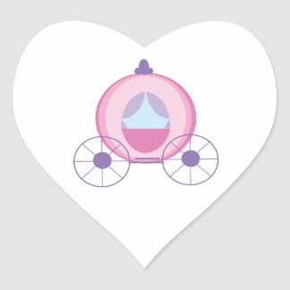 Princess Coach Heart Sticker