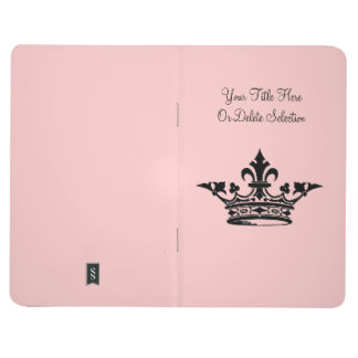 Princess Crown Fleur de Lis Custom Title and Color Journal