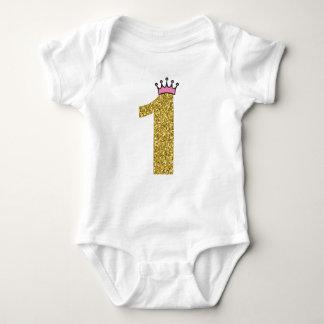 Princess Crown Gold One Bodysuit